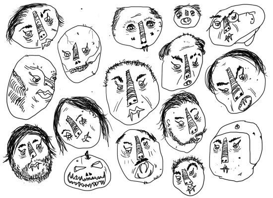 Horrible Faces Canvas Print