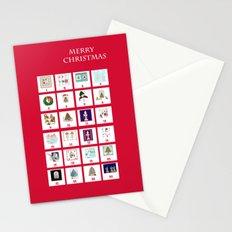 Christmas Advent Calendar Print Stationery Cards