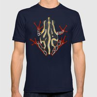 congo tree frog orange Mens Fitted Tee Navy SMALL