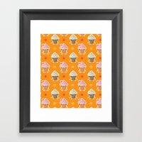 Ice Cream And Sun Bath Framed Art Print