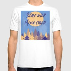 Stay Wild Moon Child (bl… Mens Fitted Tee White SMALL