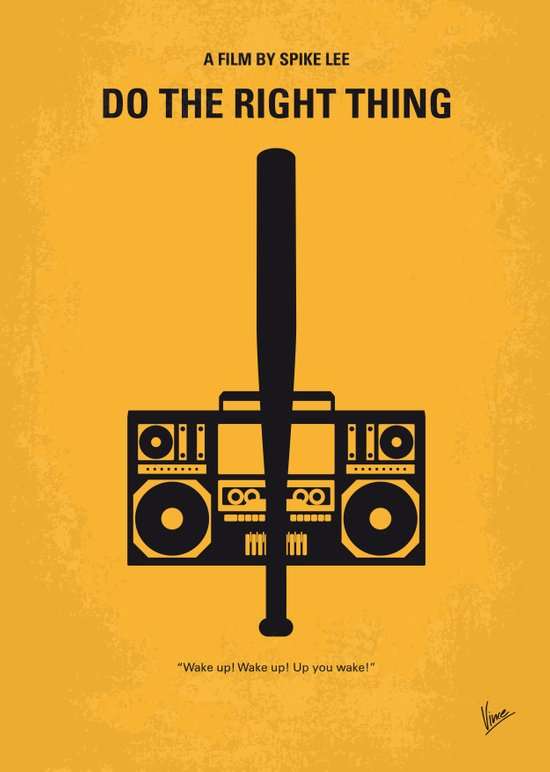 No179 My Do the right thing minimal movie poster Canvas Print