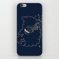 Girl and sheep. iPhone & iPod Skin