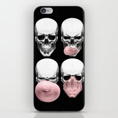 Skulls chewing bubblegum iPhone & iPod Skin