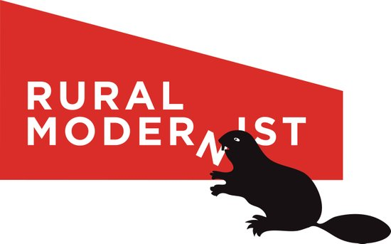 Rural Modernist beaver Art Print
