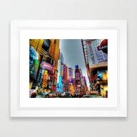 New York Times Square Framed Art Print