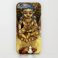 iPhone & iPod Case featuring Sacred Cats of Burma by CKellyIllustration