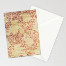 Cabbage Roses - Wood Stationery Cards