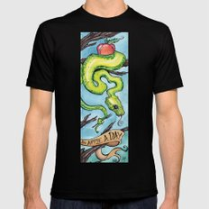 Eat Your Apples SMALL Mens Fitted Tee Black