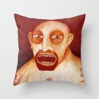 Los Tattoos Del Sombra Throw Pillow