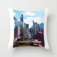 Chicago River View II Throw Pillow