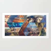 Triangles. Art Print