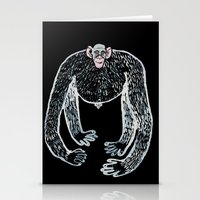 ape and his little friend Stationery Cards