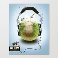 Wildlife Music Edition Canvas Print