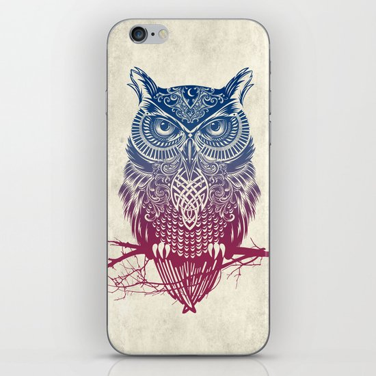 Evening Warrior Owl iPhone & iPod Skin