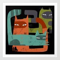 WHISKER BRACKETS Art Print