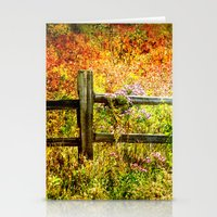 Split Rail and Fall Textures Stationery Cards