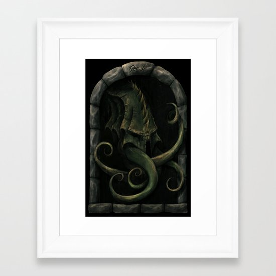 Cthulhu Awakens Framed Art Print