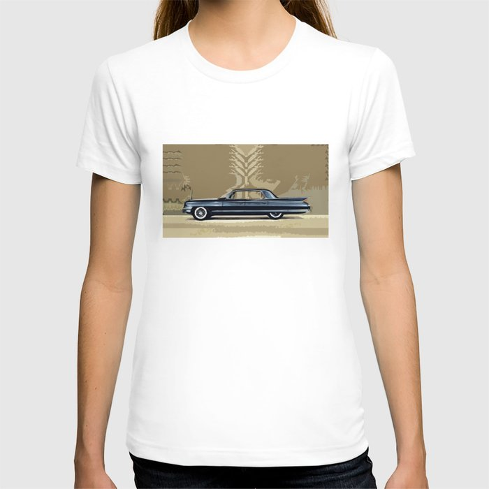 1961 cadillac fleetwood sixty special an artist 39 s impression t shirt by bruce stanfield society6. Black Bedroom Furniture Sets. Home Design Ideas