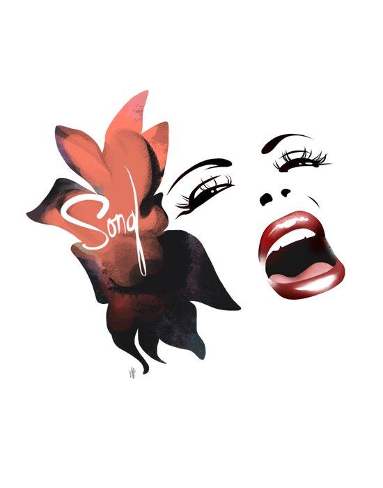 Bombshell Series: Song - Billie Holiday Art Print