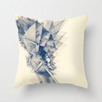 Polygon Tower Throw Pillow