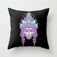 Eternal Death and her family/ Eternal Life and her family in the mirror of creation II Throw Pillow