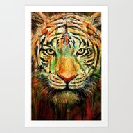 Art Print featuring Tiger by Nicebleed