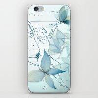 Le positive design dinamique du madame butterfly iPhone & iPod Skin