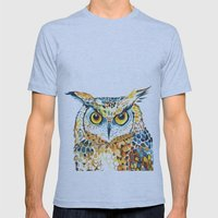 Owl Mens Fitted Tee Athletic Blue SMALL