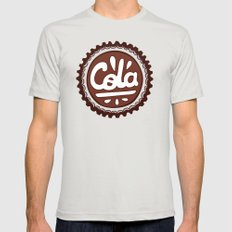 Cola Bottle Top Pattern Mens Fitted Tee Silver SMALL