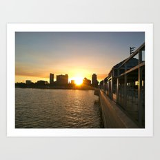 Urban Sunset  Art Print