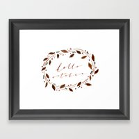 Hello October! Framed Art Print