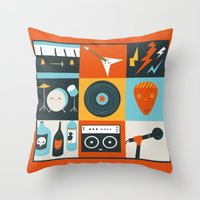 Be in a Band Throw Pillow