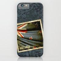 Grunge sticker of New Zealand flag iPhone 6 Slim Case