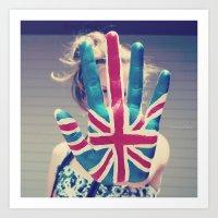 british flag love Art Print