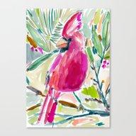HOLIDAY CARDINAL Canvas Print