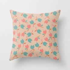 Floral Bit Throw Pillow