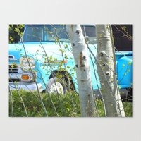 The Old Blue Truck Canvas Print