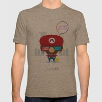 Mario 3d Mens Fitted Tee Tri-Coffee SMALL