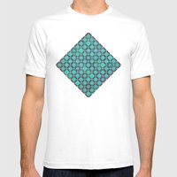 bermuda squares Mens Fitted Tee White SMALL