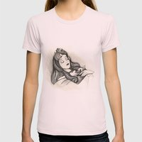 Sleeping Beauty Womens Fitted Tee Light Pink SMALL