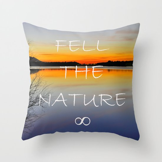 Feel the nature infinity ∞ Throw Pillow