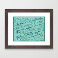 The Walrus and the Carpenter, Stanza 3 Framed Art Print