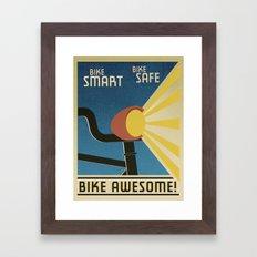 Bike Awesome! Framed Art Print