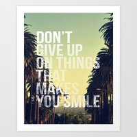 quotes Art Prints featuring QUOTES by magdam