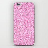 Pink Swirly Doodle iPhone & iPod Skin