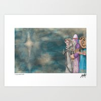 Michael's First Christmas, Three Wise Men Art Print