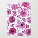 small pink flowers Canvas Print