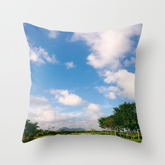 Nostalgic Sky Throw Pillow