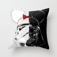 Mini Trooper Vs. Vader M… Throw Pillow